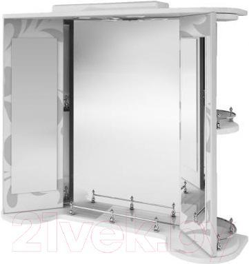Зеркало для ванной Ванланд Aркадия Арз 3-80 (серый)