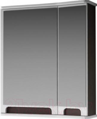 Шкаф с зеркалом для ванной Ванланд Венеция 1-65 (венге, левый)