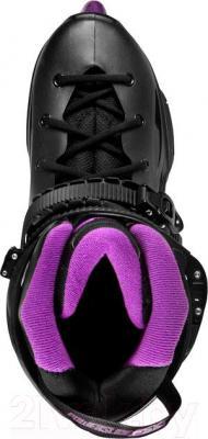 Роликовые коньки Powerslide Imperial One 80 908068 (фиолетовый, размер 40) - вид сверху