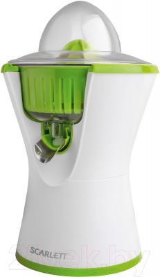 Соковыжималка Scarlett SC-JE50C03 (бело-зеленый)