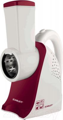 Овощерезка электрическая Scarlett SC-KP45S01 (белый/ягодный)