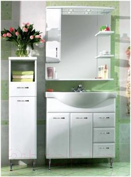 Шкаф с зеркалом для ванной Asomare Романа 80 (07.06)