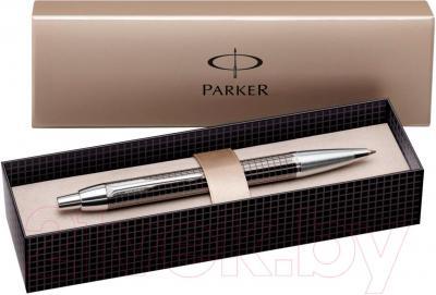 Ручка шариковая Parker IM Premium Dark Grey Chiselled S0908710 - упаковка