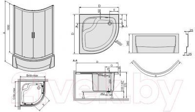 Душевой уголок Sanplast kpl-KP4/TX5a-80/165-S