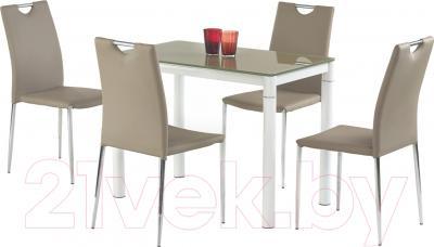 Обеденный стол Halmar Argus (бежево-белый) - в составе обеденной группы
