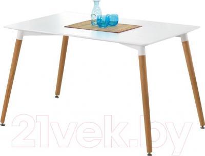 Обеденный стол Halmar Socrates Prostokat (белый) - вазы в комплектацию не входят