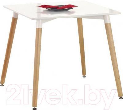 Обеденный стол Halmar Socrates квадрат (белый) - тарелка в комплектацию не входят