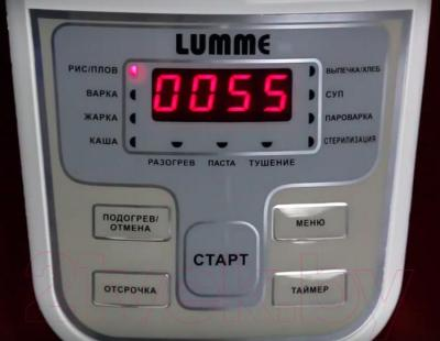 Мультиварка Lumme LU-1431 (белый/красный металлик)