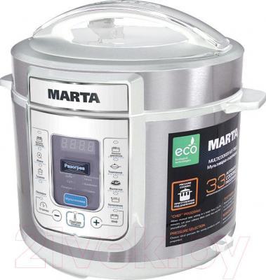 Мультиварка-скороварка Marta MT-1963 (белый/сталь)