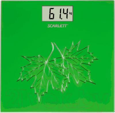 Напольные весы электронные Scarlett SC-BS33E004 (клен)
