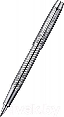 Ручка перьевая Parker IM Premium Shiny Chrome Chiselled S0908640