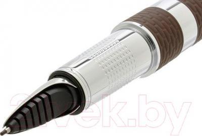 Ручка капиллярная Parker Ingenuity Large Brown Rubber and Metal CT S0959180 - пишущий узел вид сбоку