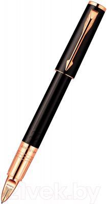 Ручка капиллярная Parker Ingenuity Slim Black Rubber PGT S0959060