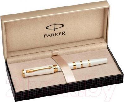 Ручка капиллярная Parker Ingenuity Slim Pearl and Metal GT 1858536 - коробка