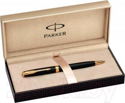 Ручка шариковая Parker Sonnet 07 Matte Black GT S0818000 - коробка