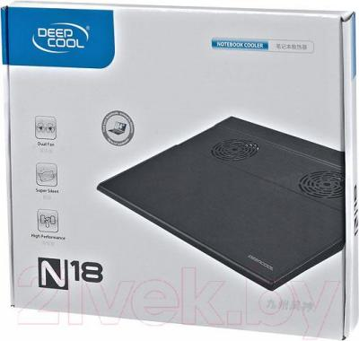 Подставка для ноутбука Deepcool N18 (черный)