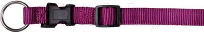 Ошейник Trixie Premium Collar 20158 (S-M, ягодный) - общий вид