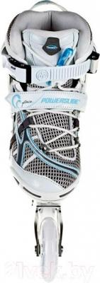 Роликовые коньки Powerslide Phuzion 6 Pure 940093 (размер 39) - вид спереди