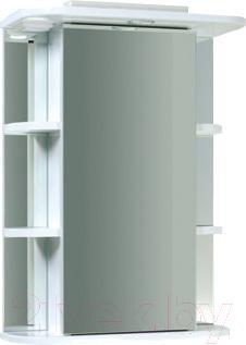 Шкаф с зеркалом для ванной Asomare Сильвер 55 (39.10)