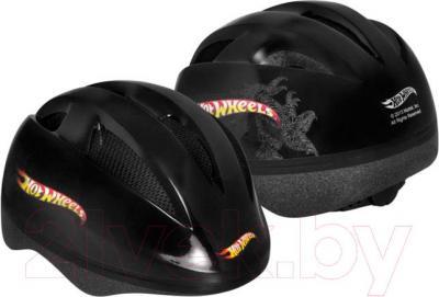 Защитный шлем Powerslide Hot Wheels XS-S 980319 - вид спереди и сзади