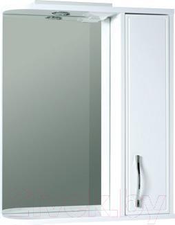 Шкаф с зеркалом для ванной Asomare Сильвер 60 (39.08)