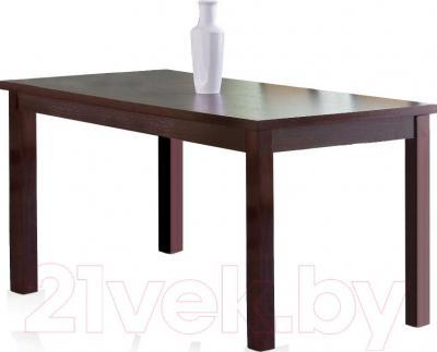 Обеденный стол Halmar Ernest 120/160 (темный орех) - ваза в комплектацию не входит
