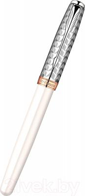 Ручка капиллярная Parker Sonnet 11 Metal and Pearl CT S0976010