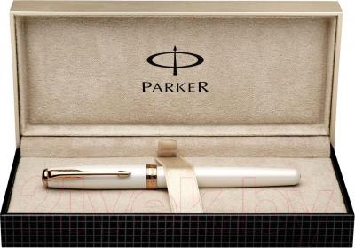 Ручка капиллярная Parker Sonnet 11 Metal and Pearl CT S0976010 - коробка