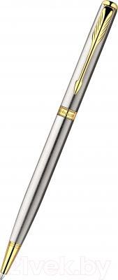Ручка шариковая Parker Sonnet 07 Stainless Steel Slim GT S0809150