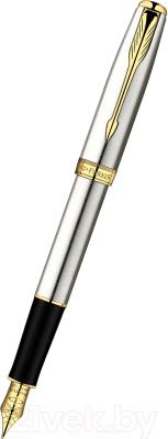 Ручка перьевая Parker Sonnet 07 Stainless Steel GT S0809110