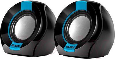 Мультимедиа акустика Sven 150 (черно-синий) - общий вид