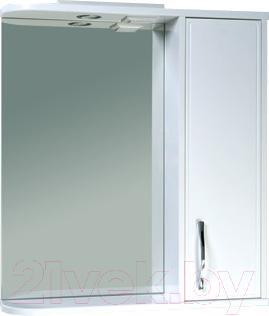 Шкаф с зеркалом для ванной Asomare Сильвер 70 (39.09)