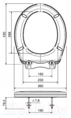Сиденье для унитаза ОРИО К-04 (салатовый)