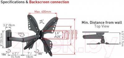 Кронштейн для телевизора Barkan 34C.B (черный)