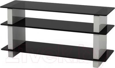 Стойка для ТВ/аппаратуры Поливестстрой WPL 42 (светло-серый/черный)