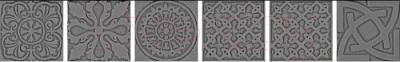 Декоративная  плитка для пола VitrA Уголок Enigma K076622 (5x5, серебристый)