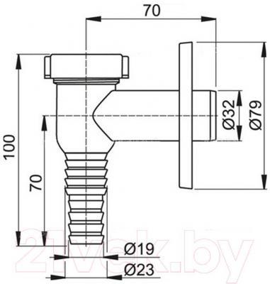 Cифон для стиральной машины Alcaplast APS1