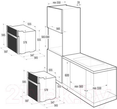 Электрический духовой шкаф Gorenje BO635E11BK-2