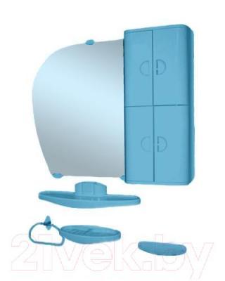 Комплект мебели для ванной Белпласт 16 с346-2830 (правый, голубой)