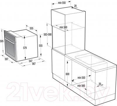 Электрический духовой шкаф Gorenje BO635E20XG-M