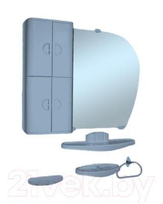 Комплект мебели для ванной Белпласт 16 с346-2830 (левый, голубой)