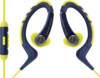 Наушники-гарнитура Audio-Technica ATH-SPORT1iS (желто-синий) -
