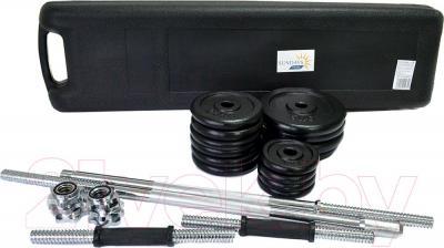 Набор гантелей разборных Sundays Fitness IR92075A (50кг) - весь набор