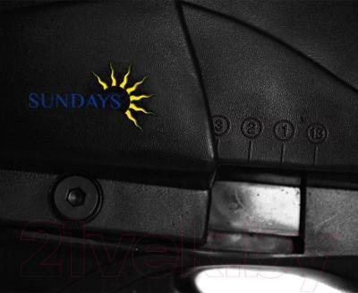 Коньки раздвижные Sundays PW-219 (S, черно-красный) - раздвижной механизм