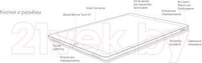 Планшет Apple iPad Pro Cell 128GB / ML2K2RK/A (золотой)