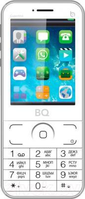 Мобильный телефон BQ Cupertino BQM-2606 (серебристый)