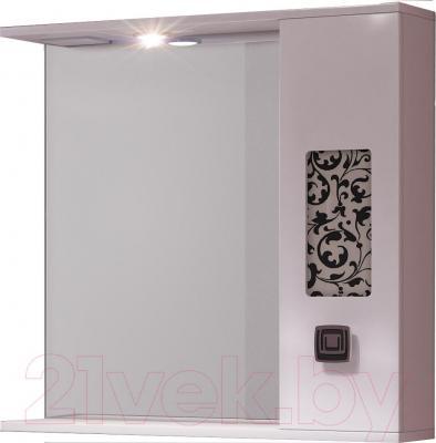 Шкаф с зеркалом для ванной Sfarzo Alba 75-1
