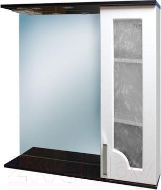 Шкаф с зеркалом для ванной Eva Gold Chameleon 75 (бордо)