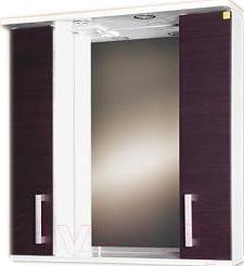 Шкаф с зеркалом для ванной Eva Gold Still 70 (венге)