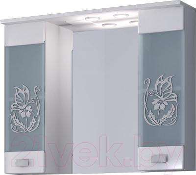 Шкаф с зеркалом для ванной Sfarzo Mattina 90